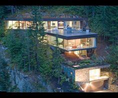 Studio NminusOne designed this amazing mountainside house in Whistler, BC, Canada.
