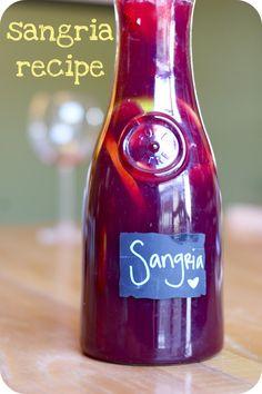 oh, sweet joy!: sangria recipe