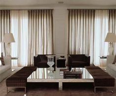 interior, living rooms, cortina, de decoración, loung decor, live room, ideia para, curtain, courtain