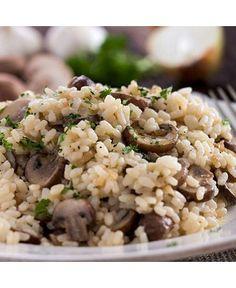 ... , wild mushrooms, healthy recipes, ground turkey, mushroom risotto