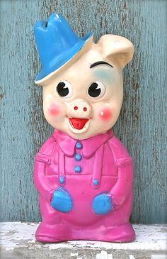 Vinyl Pig Piggy Bank.  Your favourite piggy banks: http://www.helpmetosave.com/2012/02/piggy-bank/