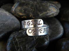 Girl on fire ring
