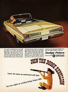 1966 Dodge Polara 500 Convertible ad.