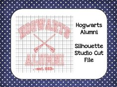Harry Potter Hogwarts Alumni Silhouette Cut File