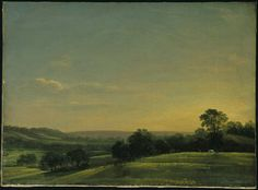 Dedham Vale: Evening, John Constable, 1802