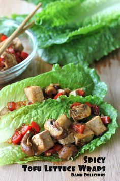 Spicy Tofu Lettuce Wraps [Damn Delicious]