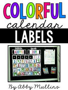 Calendar Label Freebie :)