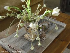 Reclaimed Wood Tray made from old fence boards. LOVE