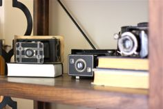 My #vintage camera collection from #Goodwill.  #Kodak #thrift #decor #home