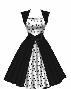 rockabilly dress - black and white