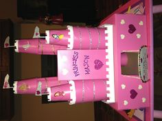 Princess castle valentine box!!