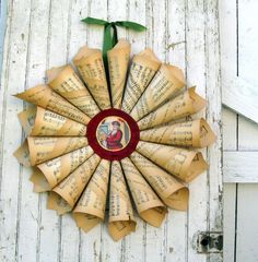 Upcycled Sheet Music Crafts by Dishfunctional Designs