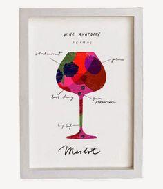 Merlot Wine Anatomy