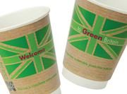 Compostable 'Green Britain' cups from Vegware