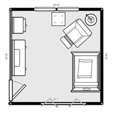 nursery layout ideas with placement pros/cons.