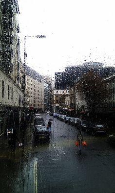 Rainy day, London