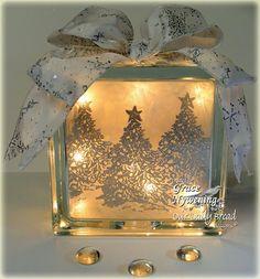 A glass block gift idea!
