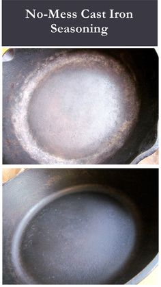 no-mess cast iron seasoning