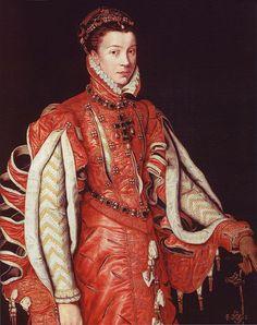 ELISABETH DE VALOIS queen of Spain PROVENANCE  Anthonis Mor 1560 Varez Fisa collection Madrid Wiki photo