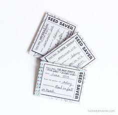 Seed Saver Packet Printable // thepapermama.com