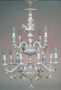 Capodimonte chandelier.