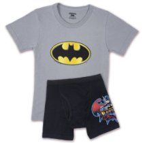 Fruit of the Loom Boys 2-7 Batman Underoos Prints Tee and Boxer Set