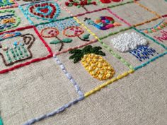 1 inch embroidery squares