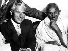 Charlie Chaplin and Mahatma Gandhi