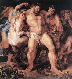 Rubens, Hércules borracho (1616), Gemäldegalerie, Dresde Del post de Harte con Hache: http://harteconhache.blogspot.com.es/2013/06/hercules-se-va-de-boda.html