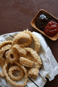Baked Beer-Battered Onion Rings