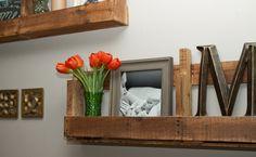 How to make decorative pallet shelves.