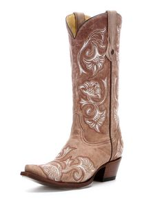 Corral Women's Bone Floral Full Stitch Cowgirl Boot  http://www.countryoutfitter.com/products/36457-womens-bone-floral-full-stitch-boot-g1086