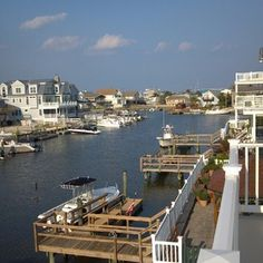 Avalon, NJ the view up the canal.