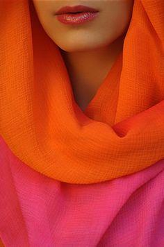 Orange and Fuschia