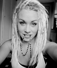 White girl with dreads