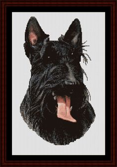 Scottie - Cross Stitch Collectibles fine art counted cross stitch pattern
