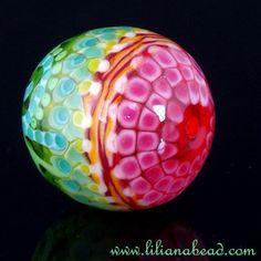 stunning lampwork focal bead from Lilianabead