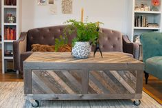Chevron Pallet Wood Coffee Table.
