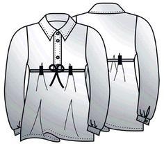 Выкройки блузок: блузка ампир с поясом