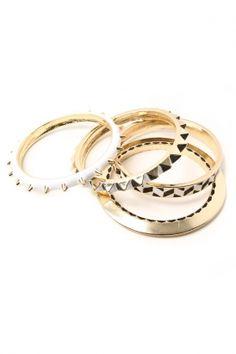 Noir x LAMB - Enamel Set Bracelets