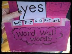 Use a coupon organizer from the dollar store to organize word wall words.