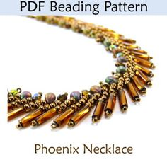 St Petersburg Beaded Necklace PDF Beading Pattern Tutorial