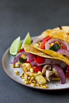 grilled veggies, tacos, food, veggi taco, eat, cookout recipes, grill veggi, grill recip, fresh grill