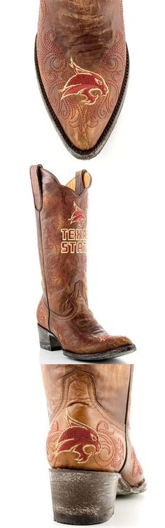 Texas State University cowboy boots
