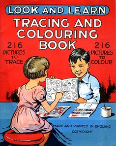 Look and Learn Tracing and Colouring Book