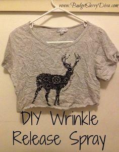 DIY Wrinkle Release Spray | Budget Savvy Diva