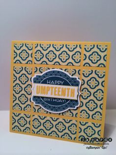 Stampin' Up!, Freshly Made Sketches 141, Oh My Goodies, All Abloom DSP Stack, Deco Labels Collection Framelits
