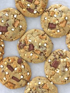 S'mores Pudding Cookies #desserts #dessertrecipes #yummy #delicious #food #sweet