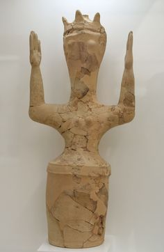 Goddes with upraised hands, from Shrine, Ierapetra, Crete