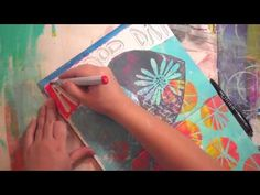 Julie Balzer - one of her super fast videos using the Gelli. An amazing page!
